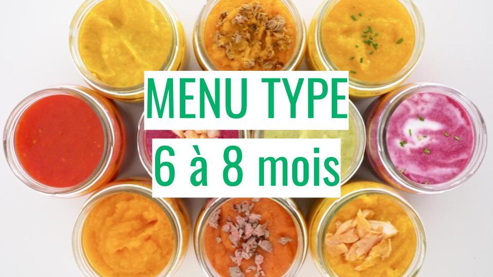 repas type bebe 6 a 8 mois cuisinez