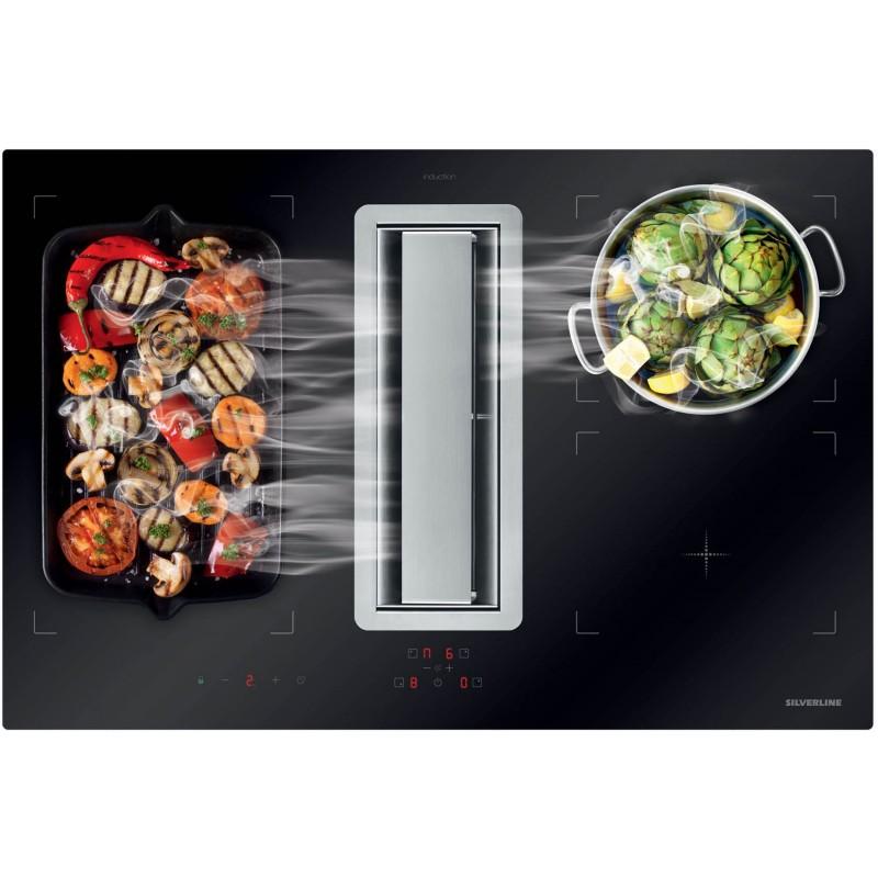 hotte plan de travail table induction cuisinieres grande largeur