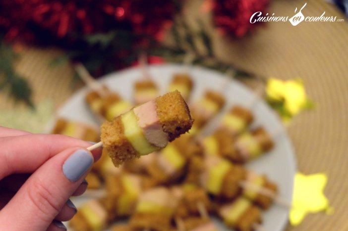 brochette mangue foie gras