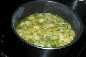 Velouté de poireaux au safran et aux moules 1