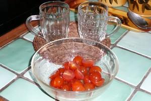 Verrine de tomates cerise au basilic 1