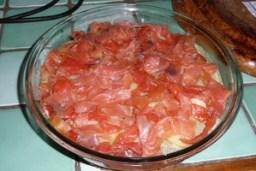 Gratin de cabillaud et saumon fumé sauce aux orties 5