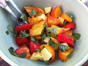 salade de tomates au pourpier sauvage