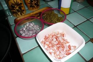 Spaghettis aux asperges et aux crevettes 1