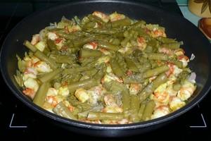 Spaghettis aux asperges et aux crevettes 2