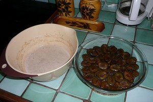 Clafoutis de quetsches, lait d'épeautre et farine de châtaignes (1)