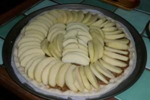 Tarte aux pommes et à la rhubarbe (2)
