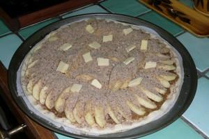 Tarte aux pommes et à la rhubarbe (3)