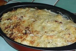 Chou vert frisé en gratin (7)