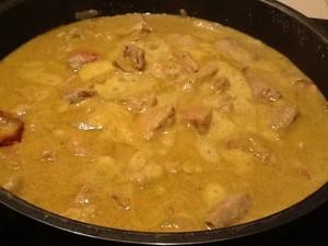 saute de porc curry lait de coco