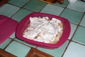 Pommes et bananes au yaourt en papillote (1)