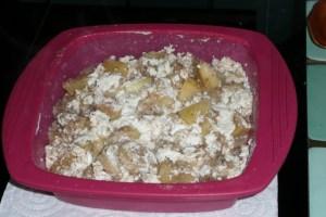 Pommes et bananes au yaourt en papillote (2)