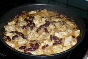 Poulet aux haricots rouges sauce tandoori