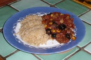 Seitan à la tomate et aux olives (3)