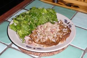 Clafoutis aux herbes et au saumon sauvage (2)