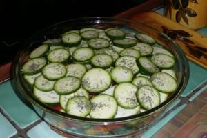 Gratin de courgettes et poivrons au tofu à l'indienne (2)