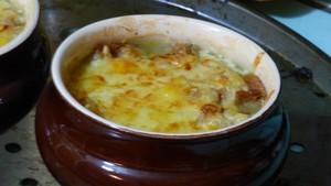 Soupe à l'oignon y croutons (2)