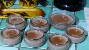Flan au lait de chèvre et au cacao