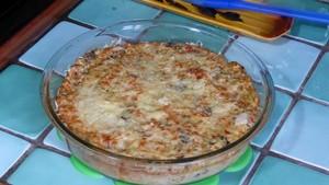Gratin d'orties aux flocons de céréales et au tofu (1)