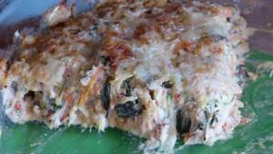 Gratin d'orties aux flocons de céréales et au tofu (2)