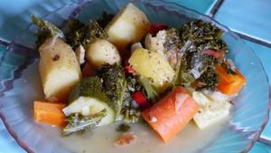 Cocotte minute de légumes au chou kalé