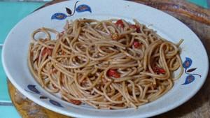 Spaghettis sauce aux poivrons (2)