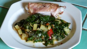 Cocotte de légumes en vert