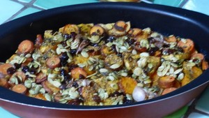 Légumes rôtis au four et graines caramélisées (3)