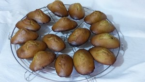 Madeleines au thé Matcha (2)