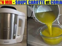 soupe-carotte-coriandre-mixeur-cuiseur-lidl-silvercrest-coock-n-mix-smk-1000w-accessoires-test-avis-prix-notice-carcteristiques-forum