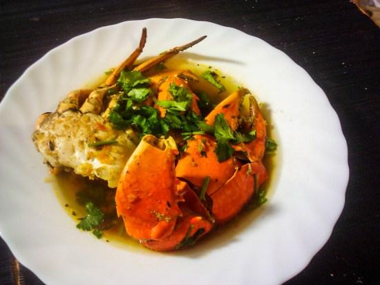 Bouillon de crabe
