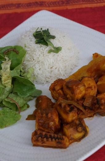 Cari Ourite et Chouchou : Curry de Poulpe et Chouchou