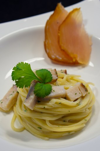 Spaghetti with Smoked Marlin