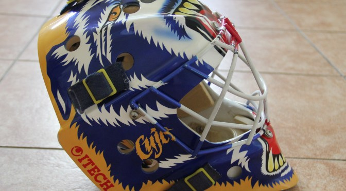 1994-95 St. Louis Blues Mask Back-Up / Game-Ready – Curtis Joseph