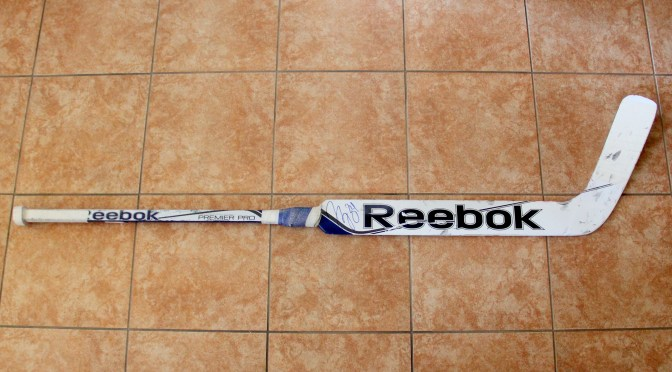 2014-15 St. Louis Blues Game Used Stick – Jake Allen
