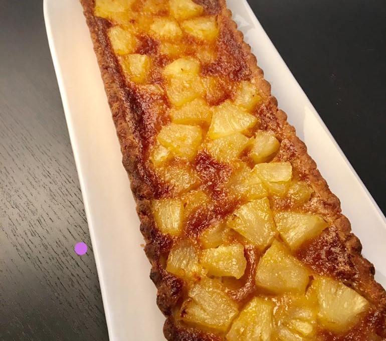 Tarte ananas vergeoise