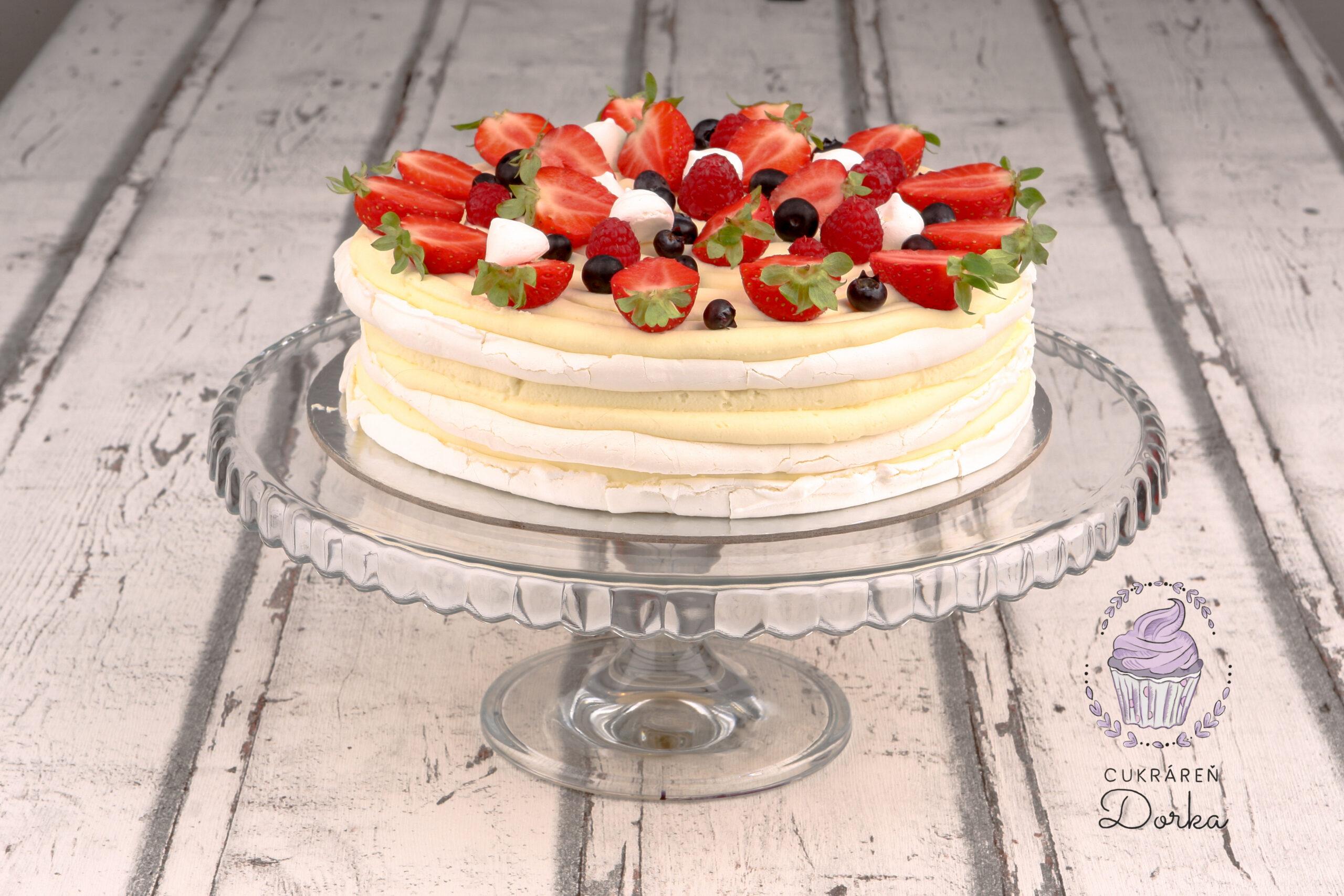 Bezlepková Pavlova torta