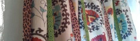 DIY Ribbon Embellished Curtains