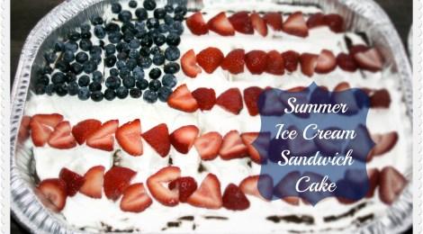 Summer Ice Cream Sandwich Cake