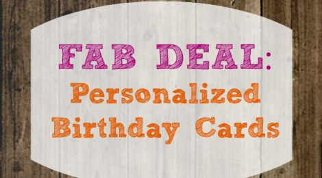 Fab Deal: Personalized Birthday Cards