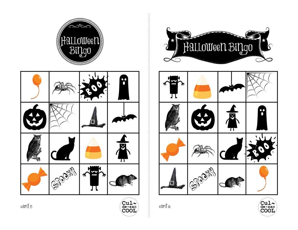 Halloween Bingo Cards 5&6