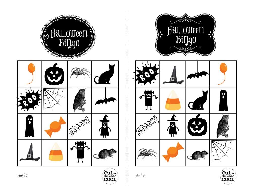 Halloween Bingo Cards 7&8