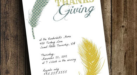 DIY Printable 'Birds of a Feather' Thanksgiving Day Invite