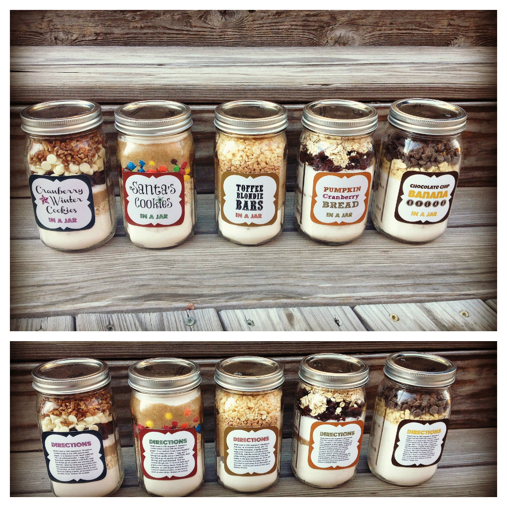 Baked Christmas Gifts: 5 DIY Holiday Baked Gifts In A Jar With FREE Printable