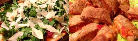 Family Pizza Night: Fig & Prosciutto Pizza, Pepperoni Pizza Roll