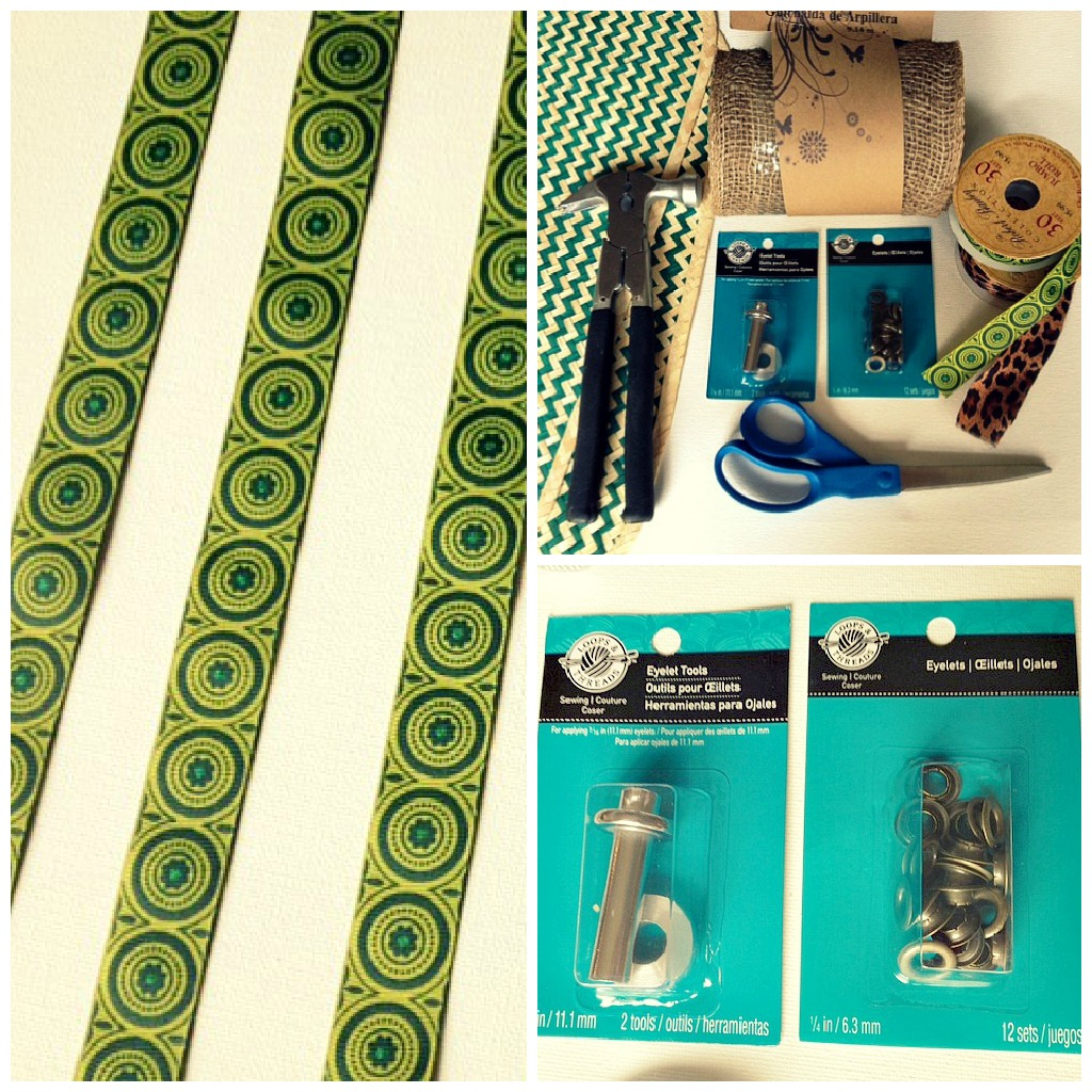 table runner supplies collage