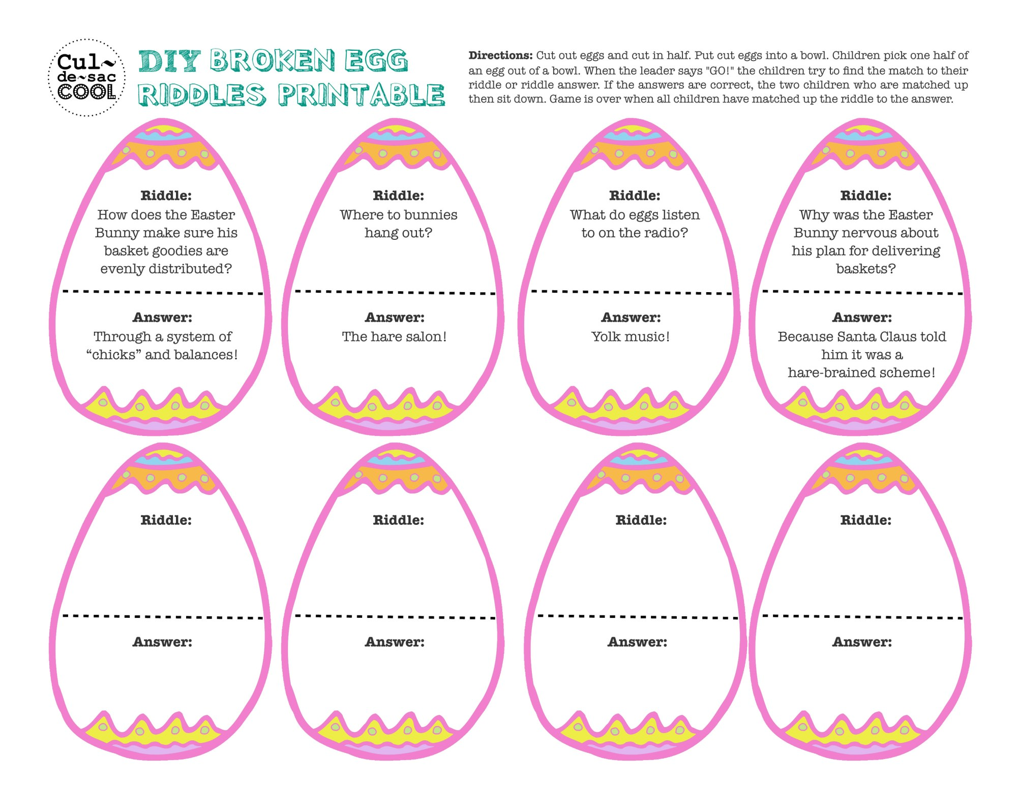 hight resolution of 12 Coolest Kid Easter Party Games