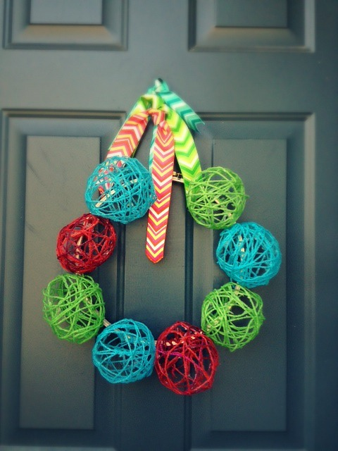 yarn wreath 4
