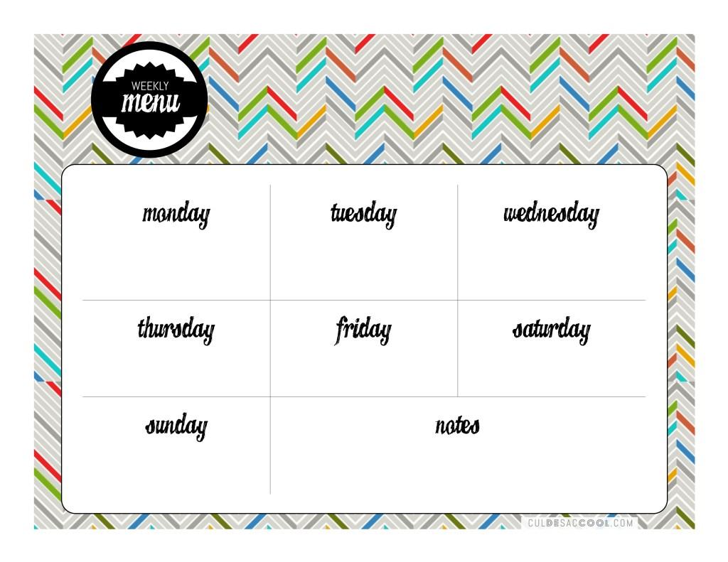 menu chart