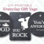 DIY Printable Everyday Gift Tags